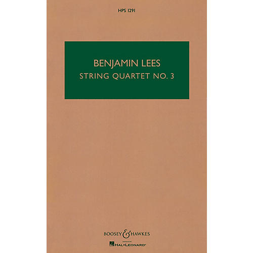 Boosey and Hawkes String Quartet No. 3 (Study Score) Boosey & Hawkes Chamber Music Series Softcover by Benjamin Lees-thumbnail