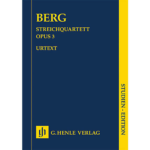 G. Henle Verlag String Quartet No. 3 (Study Score) Henle Study Scores Series Softcover Composed by Alban Berg-thumbnail