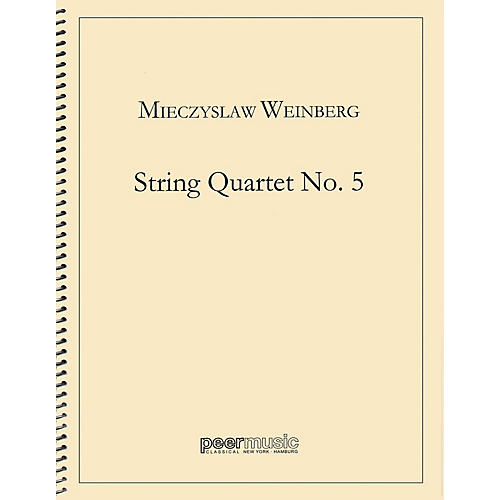 Peer Music String Quartet No. 5 Peermusic Classical Series by Mieczyslaw Weinberg-thumbnail
