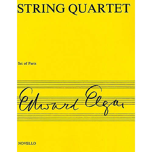 Novello String Quartet Op. 83 Music Sales America Series Composed by Edward Elgar-thumbnail