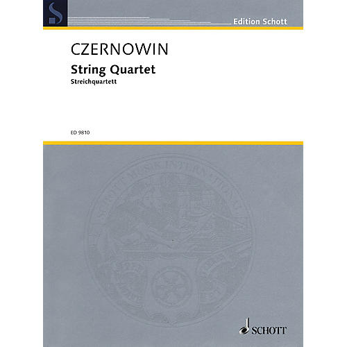 Schott String Quartet (Score and Parts) Schott Series Composed by Chaya Czernowin-thumbnail