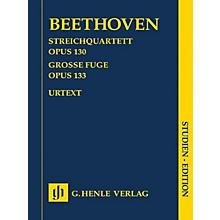 G. Henle Verlag String Quartet in B-flat Major, Op. 130 and Great Fugue, Op. 133 Henle Study Scores by Beethoven