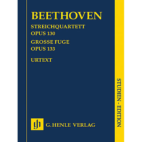 G. Henle Verlag String Quartet in B-flat Major, Op. 130 and Great Fugue, Op. 133 Henle Study Scores by Beethoven-thumbnail