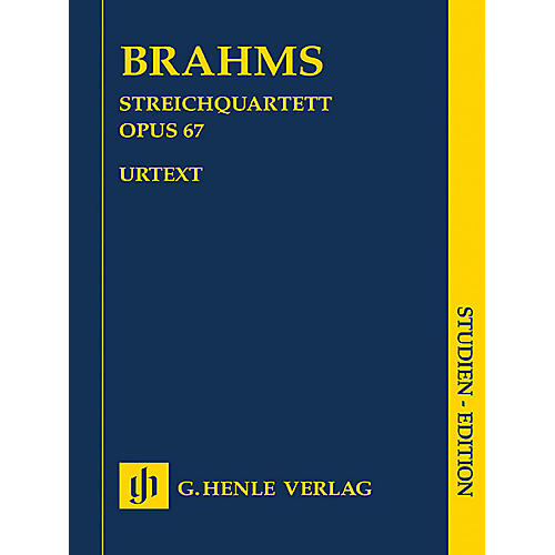G. Henle Verlag String Quartet in B-flat Major, Op. 67 Henle Study Scores Series Softcover Composed by Johannes Brahms-thumbnail
