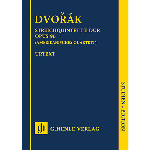 G. Henle Verlag String Quartet in F Major Op. 96 (American Quartet) Henle Study Scores Series Softcover by Antonín Dvorák