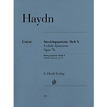 G. Henle Verlag String Quartets - Volume X Op. 76 Henle Music Folios Series Softcover Composed by Franz Josef Haydn