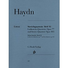 G. Henle Verlag String Quartets - Volume XI Op. 77 and Op. 103 Henle Music Folios Series Softcover by Franz Josef Haydn