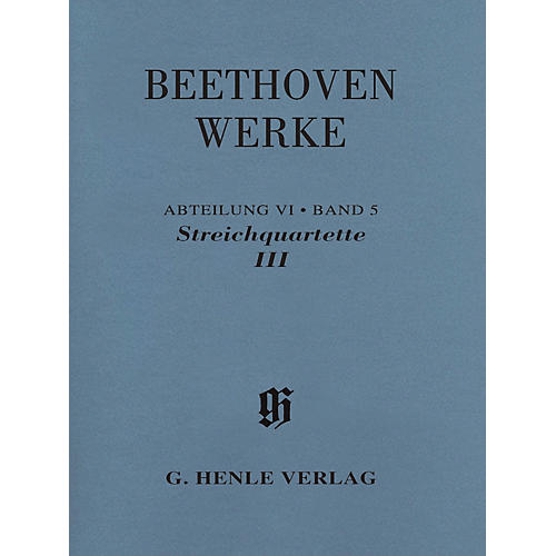 G. Henle Verlag String Quartets III Henle Complete Edition Series Softcover Composed by Ludwig van Beethoven-thumbnail