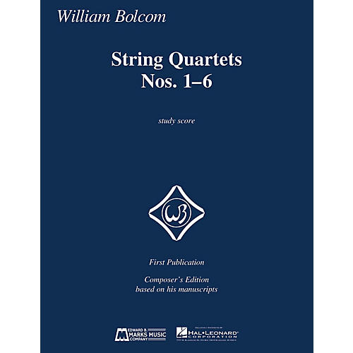 Edward B. Marks Music Company String Quartets Nos. 1-6 (Study Score) E.B. Marks Series Softcover Composed by William Bolcom-thumbnail