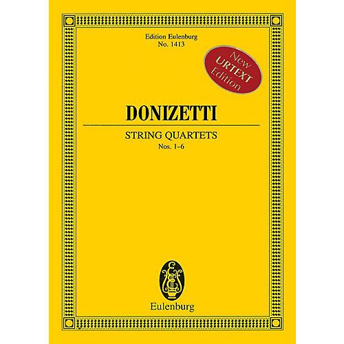 Hal Leonard String Quartets Nos. 1-6 (Study Score) Schott Series Softcover Composed by Gaetano Donizetti-thumbnail