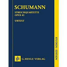 G. Henle Verlag String Quartets Op. 41 Henle Study Scores Series Softcover Composed by Robert Schumann