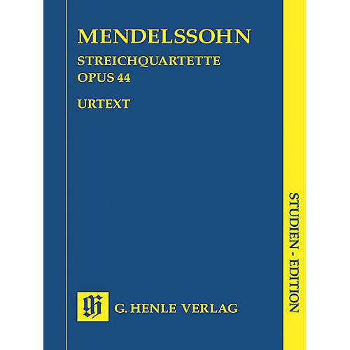 G. Henle Verlag String Quartets Op. 44, No. 1-3 (Study Score) Henle Study Scores Series Softcover by Felix Mendelssohn-thumbnail