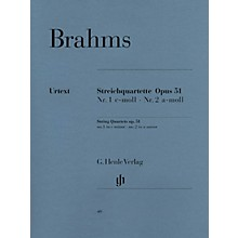 G. Henle Verlag String Quartets, Op. 51 Henle Music Folios Series Softcover Composed by Johannes Brahms