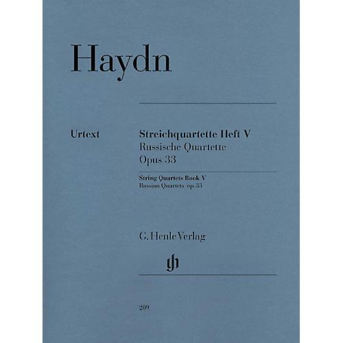 G. Henle Verlag String Quartets, Vol. V, Op. 33 (Russian Quartets) Henle Music Folios Series Softcover by Joseph Haydn-thumbnail