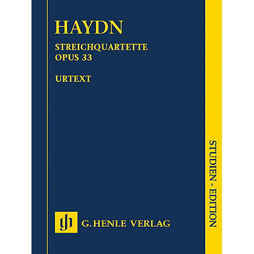 G. Henle Verlag String Quartets, Vol. V, Op. 33 (Russian Quartets) Henle Study Scores by Haydn Edited by Sonja Gerlach