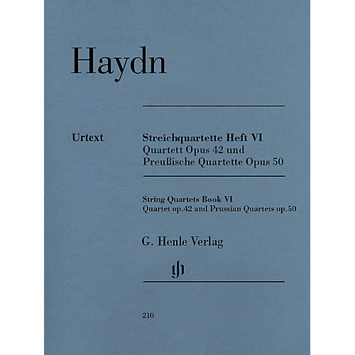 G. Henle Verlag String Quartets, Vol. VI, Op.42 and Op.50 (Prussian Quartets) Henle Music Folios by Joseph Haydn-thumbnail