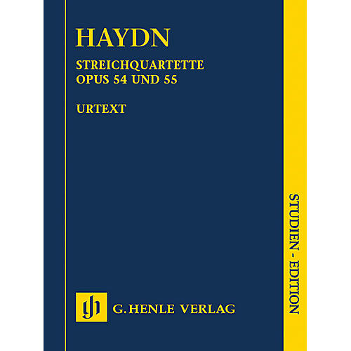 G. Henle Verlag String Quartets Vol. VII, Op. 54 and Op. 55 (Tost Quartets) Henle Study Scores by Haydn Edited by Webster-thumbnail