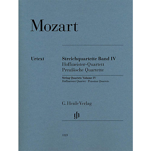 G. Henle Verlag String Quartets Volume Iv (4) Henle Music Folios Series by Wolfgang Amadeus Mozart-thumbnail