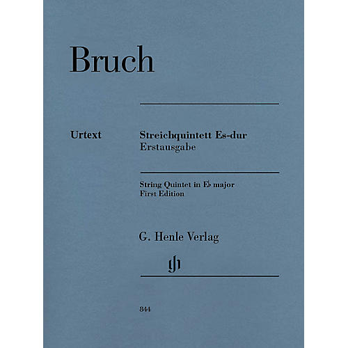 G. Henle Verlag String Quintet in E-flat Major (First Edition Score and Parts) Henle Music Folios Series by Max Bruch