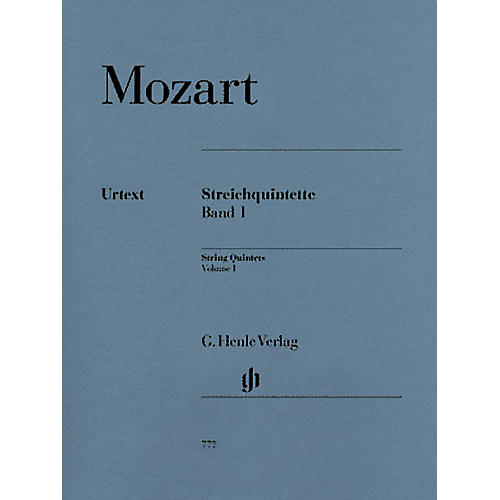 G. Henle Verlag String Quintets - Volume I (Parts) Henle Music Folios Series Softcover by Wolfgang Amadeus Mozart-thumbnail