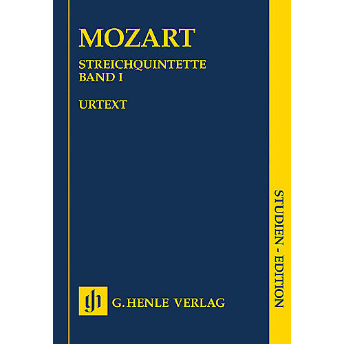 G. Henle Verlag String Quintets - Volume I (Study Score) Henle Study Scores Series Softcover by Wolfgang Amadeus Mozart-thumbnail