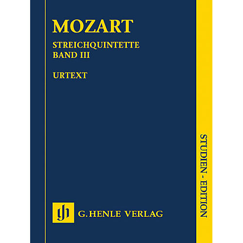 G. Henle Verlag String Quintets - Volume III Henle Study Scores by Wolfgang Amadeus Mozart Edited by Ernst Herttrich-thumbnail