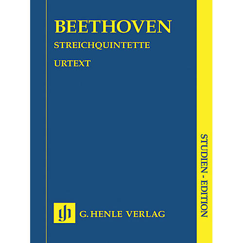 G. Henle Verlag String Quintets (Study Score) Henle Study Scores Series Softcover Composed by Ludwig van Beethoven-thumbnail