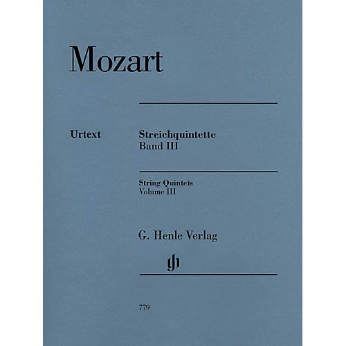 G. Henle Verlag String Quintets: Volume III Henle Music Folios by Wolfgang Amadeus Mozart Edited by Ernst Herttrich-thumbnail