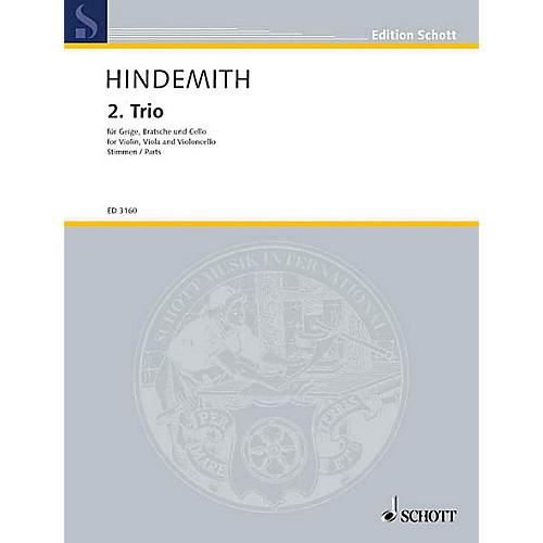 Schott Music String Trio No. 2 (1933) (Set of Parts) Schott Series Composed by Paul Hindemith