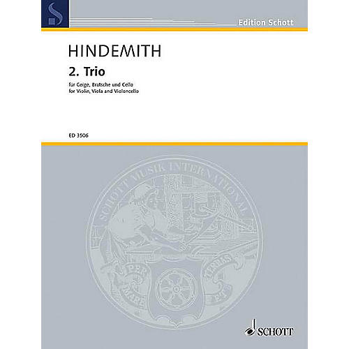 Schott Music String Trio No. 2 (1933) (Study Score) Schott Series Composed by Paul Hindemith-thumbnail
