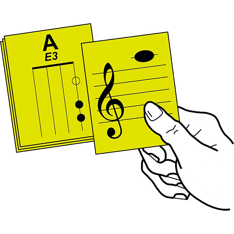 Notes & Strings Stringed Instrument Flashcards Viola, Laminated, Classroom Size