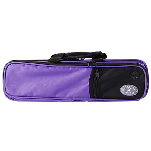 Kaces Structure Series Polyfoam Flute Case Purple