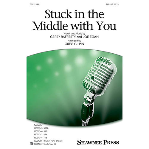 Shawnee Press Stuck in the Middle with You SAB arranged by Greg Gilpin-thumbnail