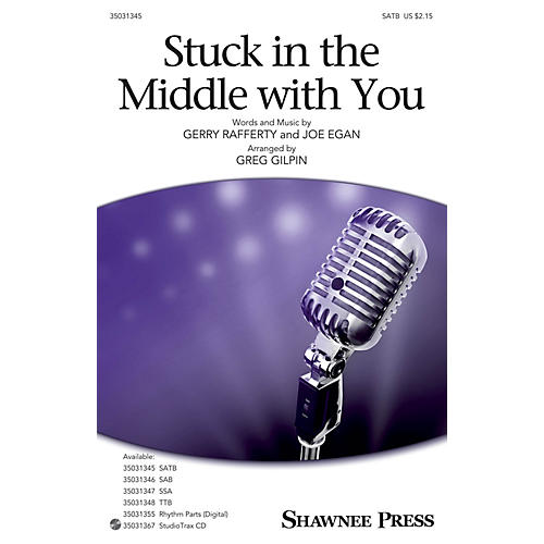 Shawnee Press Stuck in the Middle with You SATB arranged by Greg Gilpin-thumbnail