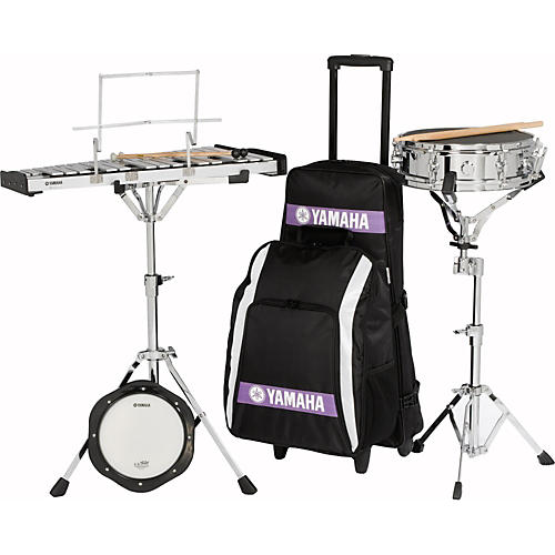 Yamaha Student Combination Snare/Bell Kit with Backpack and Rolling Cart