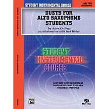 Alfred Student Instrumental Course Duets for Alto Saxophone Students Level II Book