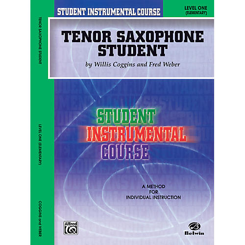 Alfred Student Instrumental Course Tenor Saxophone Student Level 1 Book