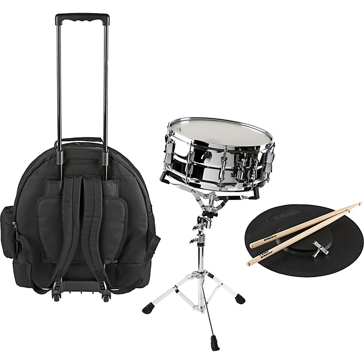 yamaha student snare drum kit with rolling case musician