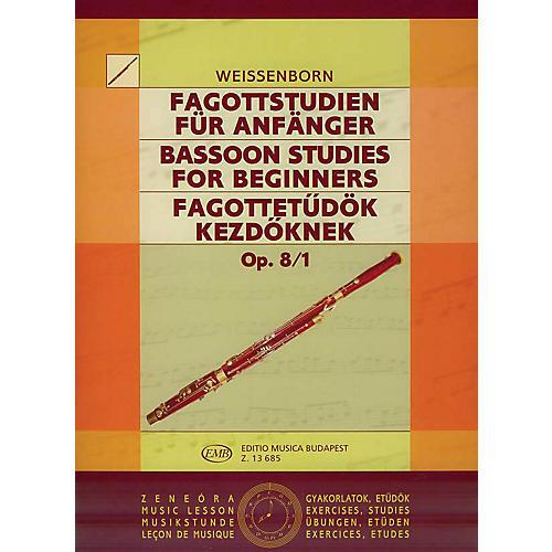 Editio Musica Budapest Studies for Bassoon, Op. 8 - Volume 1 EMB Series by Julius Weissenborn-thumbnail