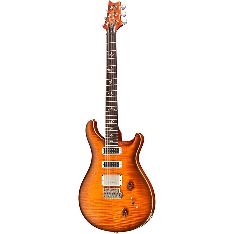 PRS Studio 10-Top With Pattern Thin Neck Electric Guitar Smoked Cherry Burst