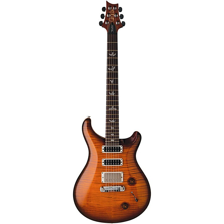 PRS Studio 10 Top With Pattern Thin Neck and Stoptail Electric Guitar Charcoal Burst