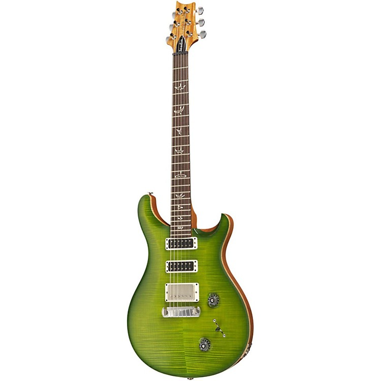 PRSStudio 10 Top With Pattern Thin Neck and Stoptail Electric GuitarErize Verde