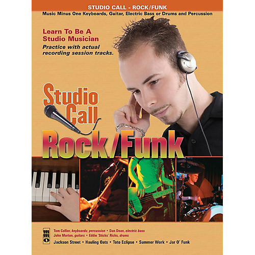 Music Minus One Studio Call: Rock/Funk - Drums (Learn to Be a Studio Musician!) Music Minus One Series Softcover with CD-thumbnail