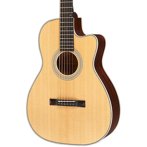 Recording King Studio Series 12 Fret OO Acoustic/Electric Guitar with Cutaway Natural