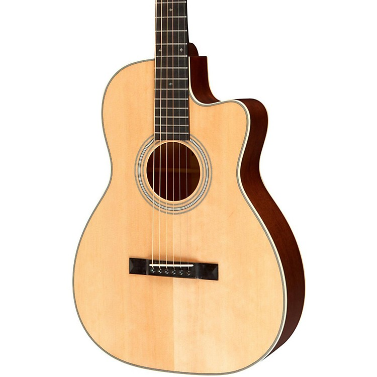 Recording King Studio Series 12 Fret OO Acoustic Guitar with Cutaway Natural
