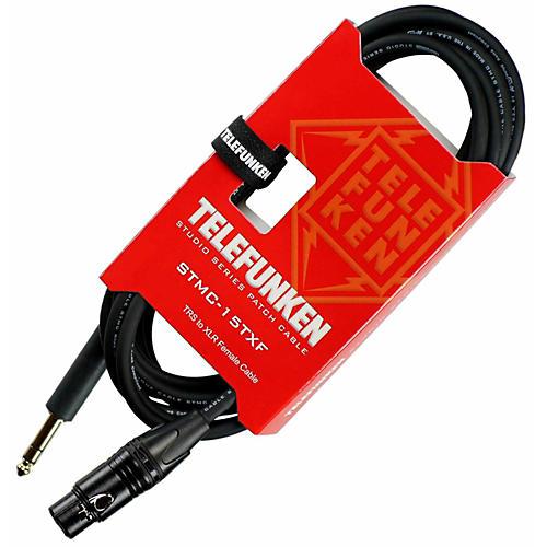 Telefunken Studio Series TRS - XLR Female Cable 10 ft. Black