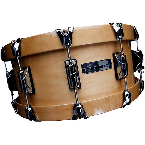 open box taye drums studiobirch wood hoop snare drum 14 x 6 natural to black burst finish. Black Bedroom Furniture Sets. Home Design Ideas