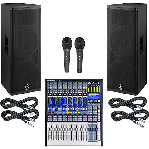 PreSonus StudioLive 16.4.2 PA Package with Yamaha DSR215 Speakers-thumbnail