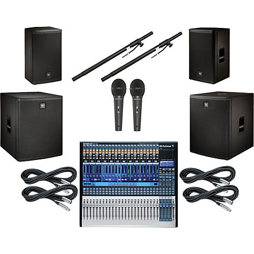 PreSonus StudioLive 24.4.2 EV Live X Dual Sub PA Package