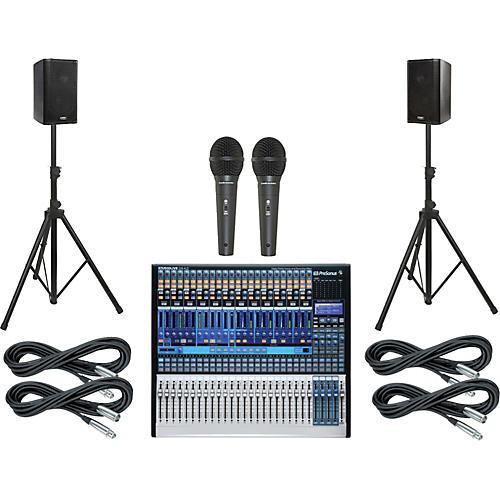 PreSonus StudioLive 24.4.2 PA Package with QSC K8 Speakers